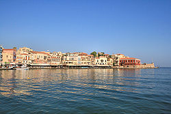 Lapplaender, Chania on the island of Crete - Western part of the venetian harbor (wikimedia)