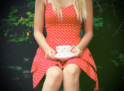 Shandi-lee Cox, polka dot tea party